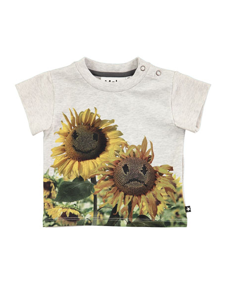Emilio Sunflower Short-Sleeve T-Shirt, Size 6-24 Months