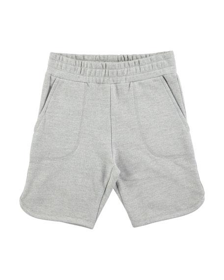 Alberto Grey Melange Cotton-Blend Shorts, Size 4-10