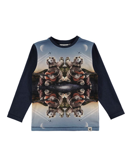 Rexol Kaleidoscope Bear Long-Sleeve T-Shirt, Size 4-10