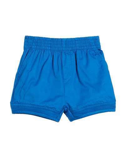 Mara Woven Shorts w/ Rib Trim, Size 12-36 Months