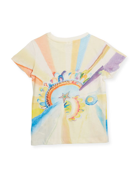 Lizzie Short-Sleeve Watercolor T-Shirt, Size 4-14