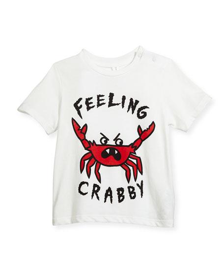 Stella McCartney Kids Chuckle Feeling Crabby T-Shirt, Size