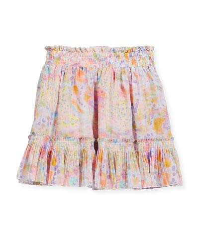 Twinkle Watercolor Skirt, Size 4-14