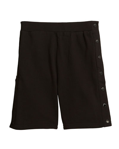 Dante Knit Shorts w/ Side Snaps, Size 4-10