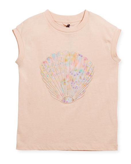 Lois Short-Sleeve Seashell T-Shirt, Size 4-14