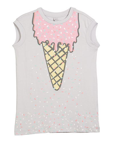 Jony Ice Cream-Print Dress, Size 4-14