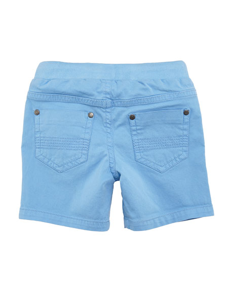 Twill-Stretch Drawstring Shorts, Size 6-36 Months