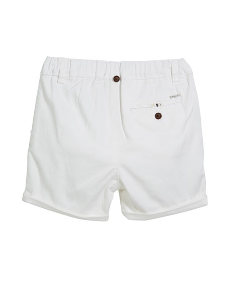 Chino Shorts w/ Suspenders, Size 12-36 Months