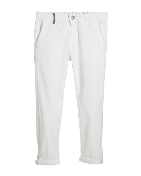 Chino Pants w/ Mesh Belt, Size 4-7