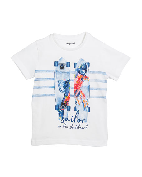 Short-Sleeve Skate & Sailor T-Shirt, Size 3-7