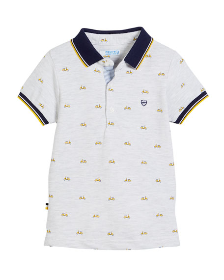 Mayoral Short-Sleeve Scooter Polo, Size 12-36 Months