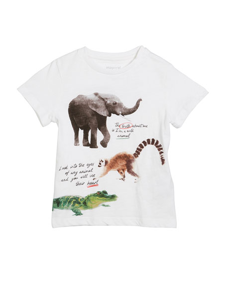 Short-Sleeve Animal Graphic T-Shirt, Size 3-7