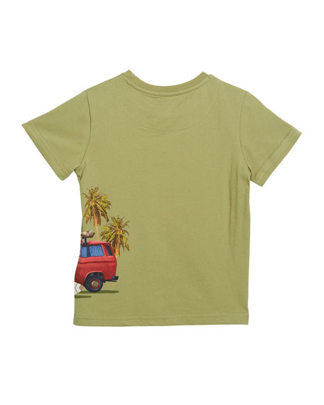 Beach Scene Short-Sleeve T-Shirt, Size 4-7