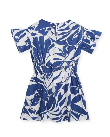 Chandlar Poplin Floral Dress, Size 4-7