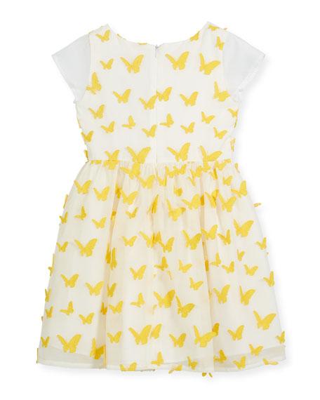 Butterfly Dress w/ Short Sheer Sleeves, Size 2-4