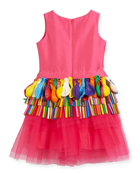 Sleeveless Tulle Balloon Dress, Size 2-4