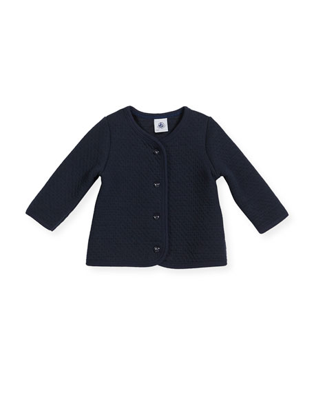 Cotton-Blend Knit Cardigan, Size 3-36 Months