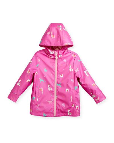 Hooded Llama Rain Coat, Size 3-6