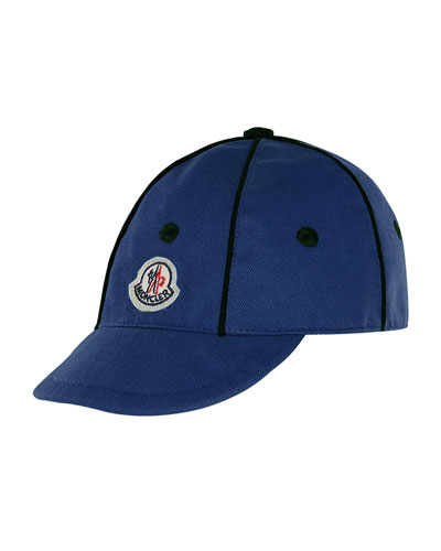 Kids' Twill Baseball Cap w/ Contrast Piping