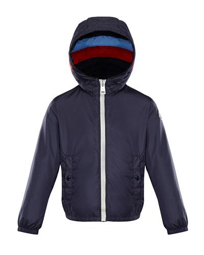 Camarsac Lightweight Down Jacket w/ Colorblock Hood, Size 8-14