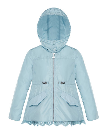 Moncler Lotus Wind-Resistant Jacket w/ Eyelet Hem, Size
