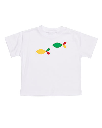 Fish-Embroidered T-Shirt, Size 6-24 Months