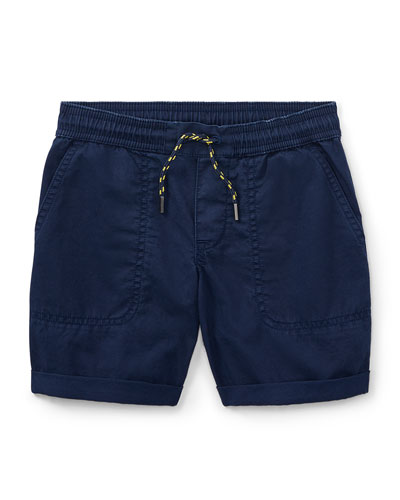 Cotton Twill Parachute Shorts, Size 5-7