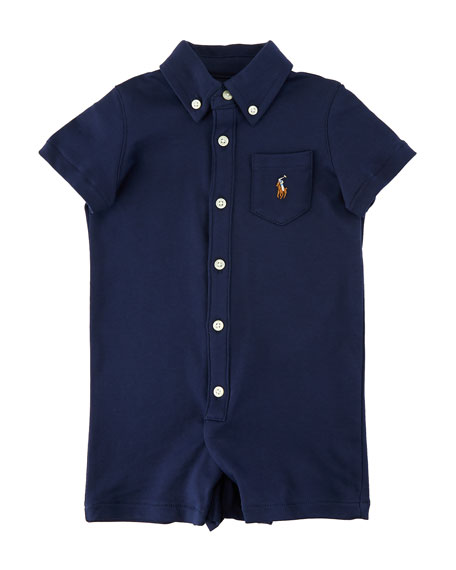 Kensington Interlock Collared Shortall, Size 3-18 Months