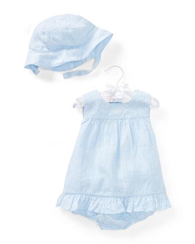 Linen Sun Layette Set, Size 9-24 Months
