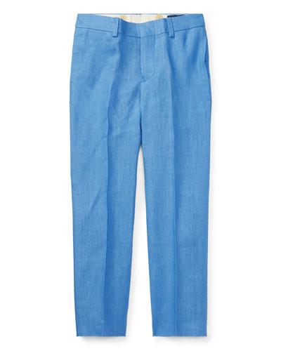 Straight-Leg Woodsman Pants, Blue, Size 4-7