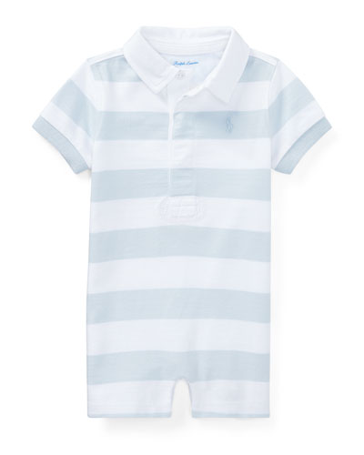 Basic Jersey Rugby Polo Shortall, Blue, Size 3-18 Months