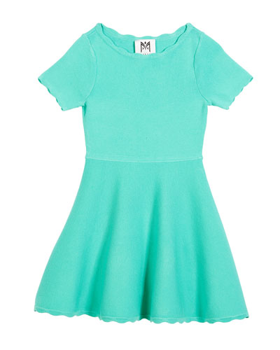Scallop Flare Dress, Size 4-7