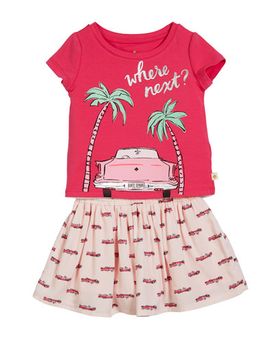 where next tee w/ hot rod skirt, size 2-6x