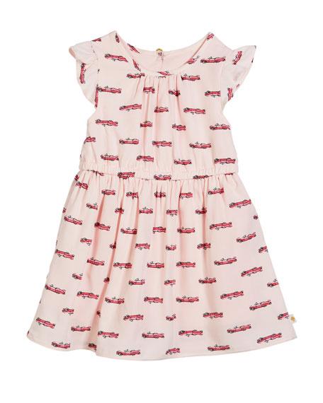 hot rod flutter-sleeve dress, size 2-6x