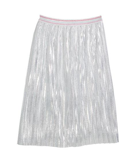 metallic a-line skirt, size 7-14