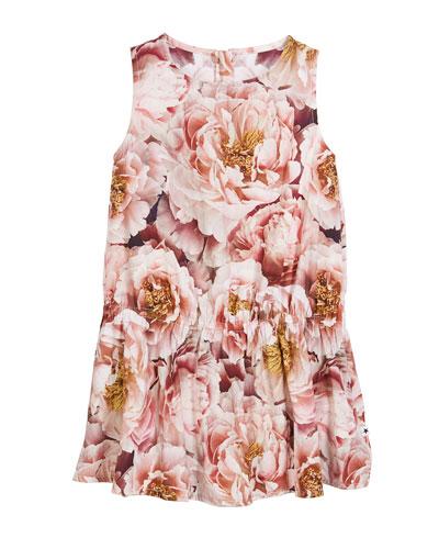 Catalina Peonies Sleeveless Dress, Size 3T-12