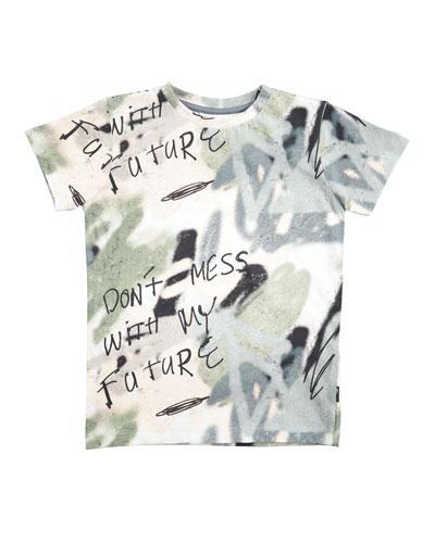 Ravento Graffiti-Print T-Shirt, Size 4-10