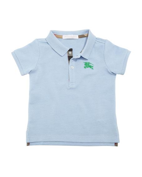 Burberry Palmer Short-Sleeve Polo Shirt, Blue, Size 6M-3Y