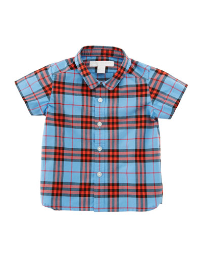 Clarkey Check Button-Down Shirt, Size 6M-3