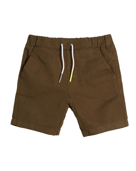 Curran Drawstring Bermuda Shorts, Size 4-14