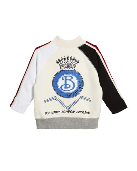 Henrick Colorblock Logo Sweatshirt, Size 4-14