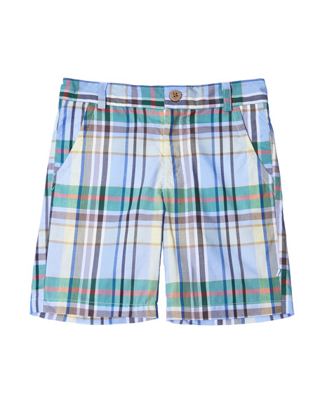 Plaid Cotton Shorts, Size 2-8