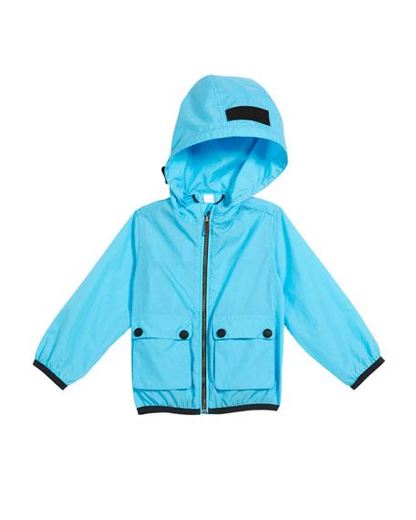 Burberry Hurst Hooded Rain Jacket, Size 12M-3