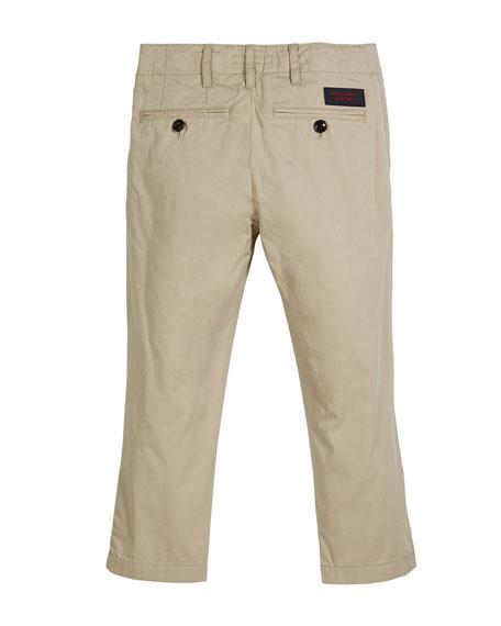 Teo Straight-Leg Twill Pants, Size 4-14