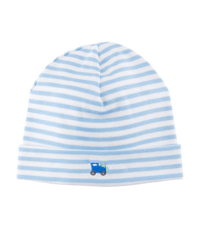 Little Railroad Striped Pima Baby Hat