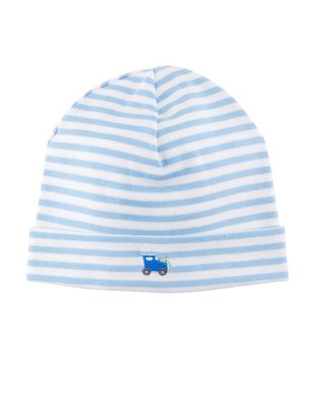 Little Railroad Striped Pima Baby Hat
