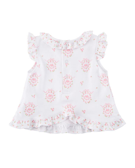 Little Girls Dreams Printed Pima Outfit Set, Size 3-24 Months