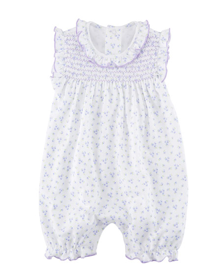 Little Girls Dreams Floral Ruffle Playsuit, Size 3-24 Months