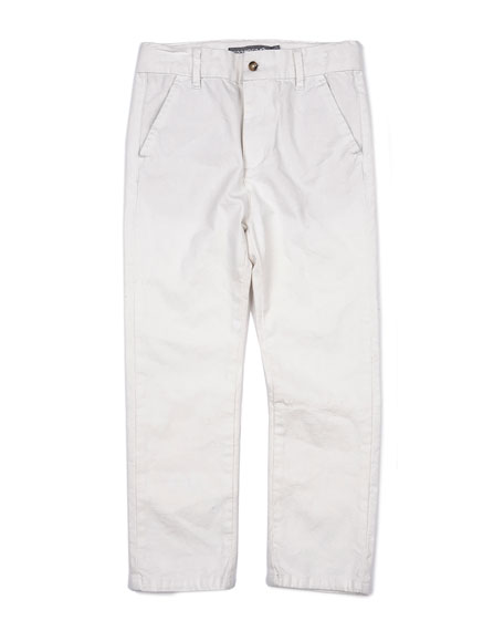 Cotton-Blend Beach Pants, Size 2-14