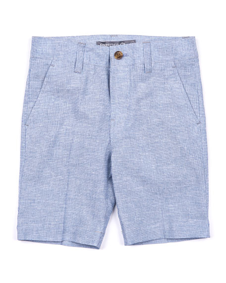 Appaman Linen-Blend Trouser Shorts, Size 2-14